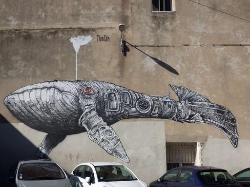 'Baleine', Nubian (Rue des Bons Enfants, 2017)