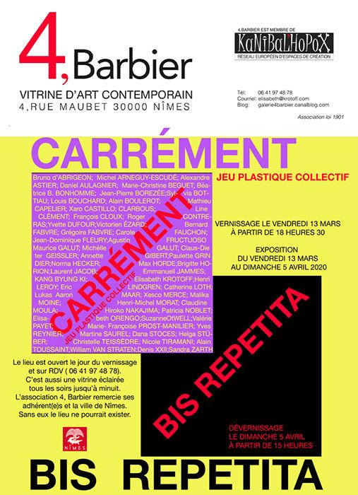 Carrement bis repetita