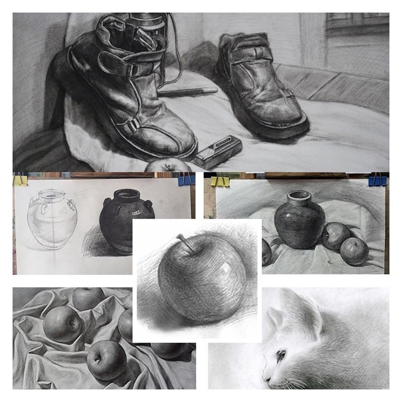 Crayon 10 pcs dessin ecrit croquis en bois pre aiguise 2b art graphite crayons
