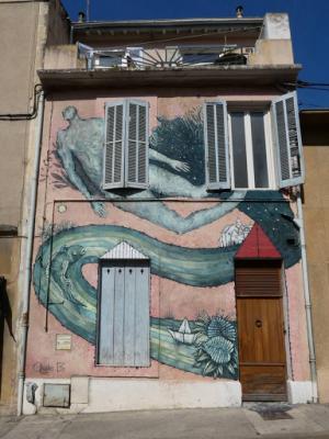 'Vers les cieux', Aude B (Rue de L'enclos Rey, 2018)